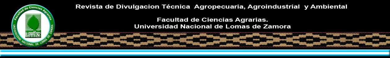 Revista de Divulgación Técnica  Agropecuaria, Agroindustrial y Ambiental de la Facultad de Ciencias Agrarias.